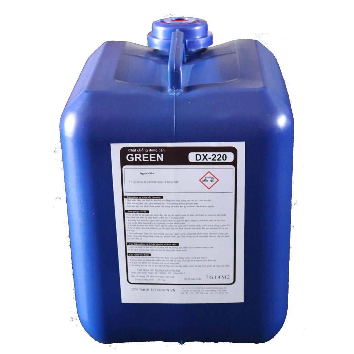 Hóa chất chống đóng cặn và ăn mòn GREEN DX- 220 | Green Water